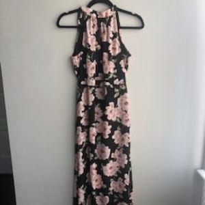 New Look Petite Floral Halterneck Maxi Dress